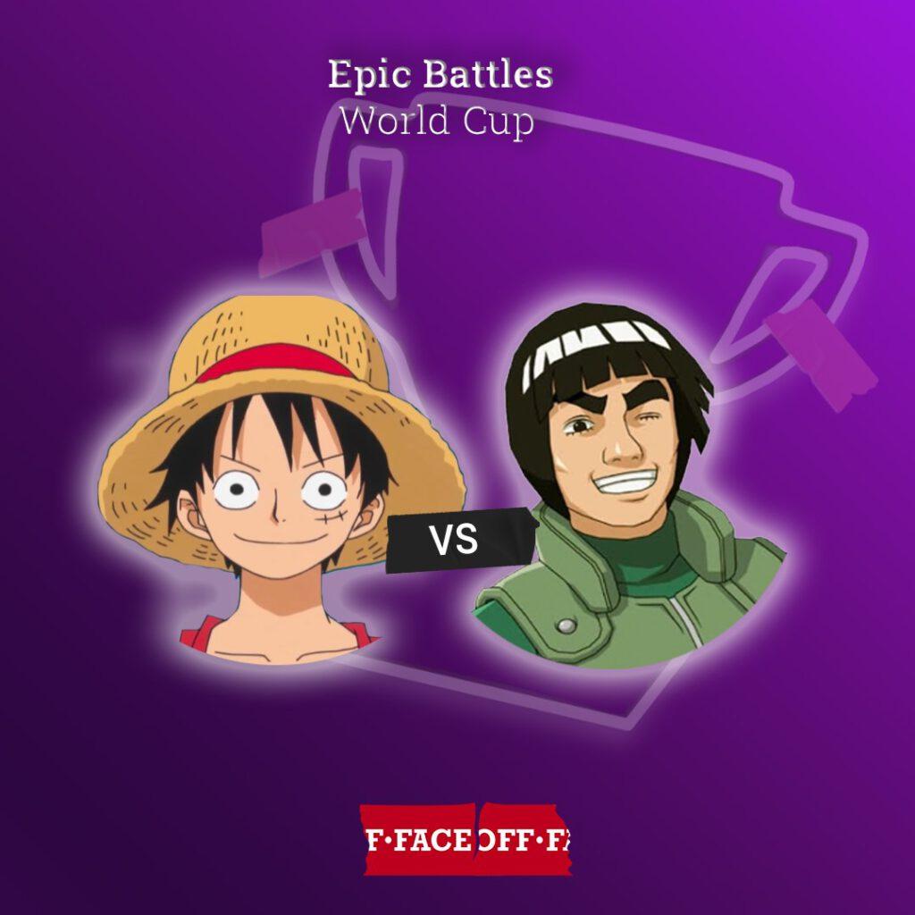 Luffy vs Might Guy