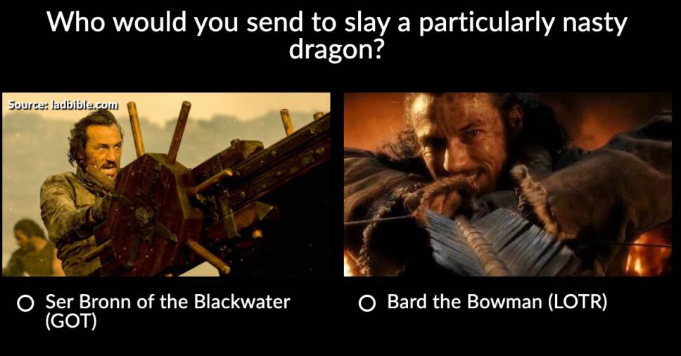 Lord of the Rings vs Game of Thrones