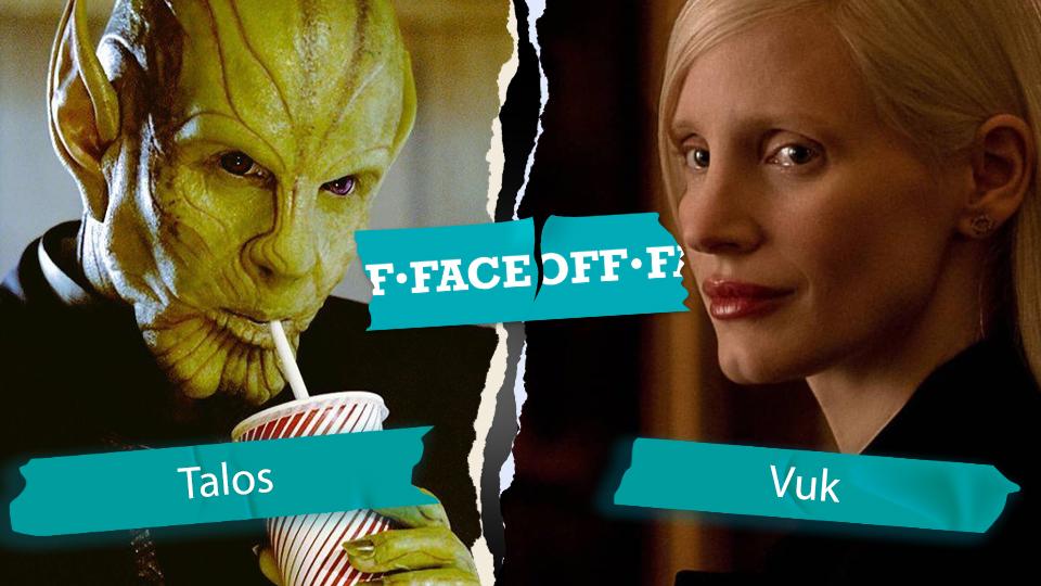 shapeshifting superheroes battle Vuk vs Talos