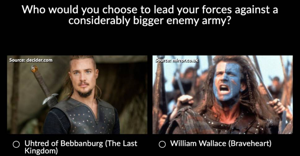 Uhtred vs William Wallace